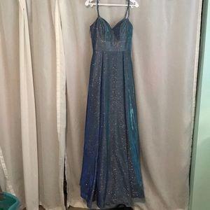 Women's glitter prom dress